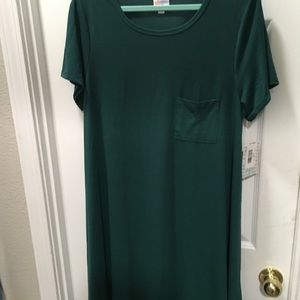 Lularoe Carly 2XL Hunter-pine green solid